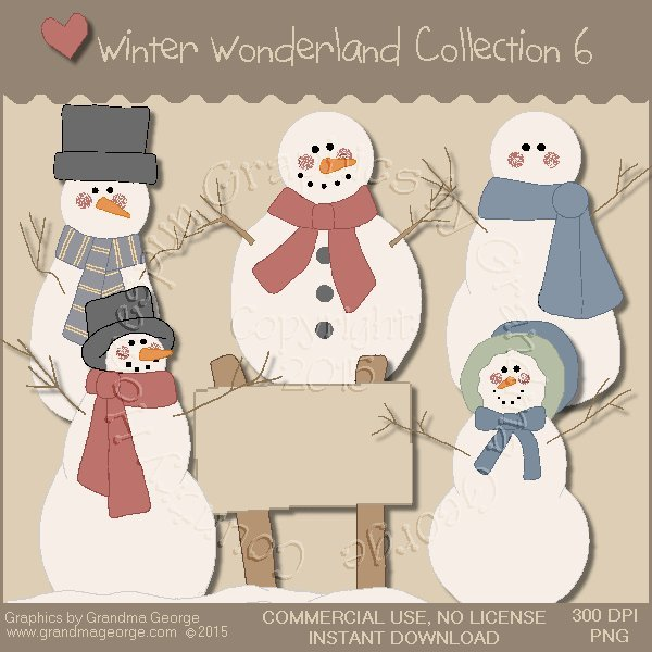 Winter Wonderland Country Graphics Collection Vol. 6