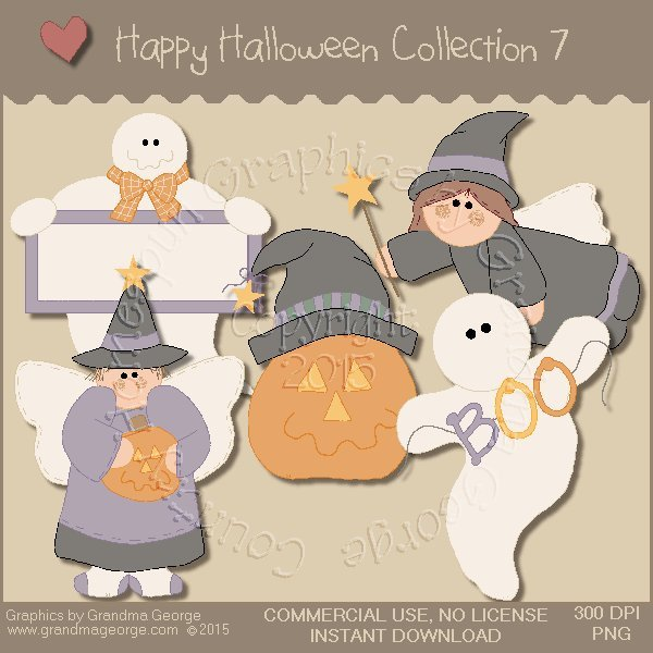 Happy Halloween Graphics Collection Vol. 7