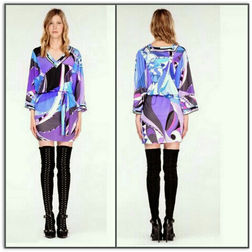 Emilio Pucci Silk Jersey Shift Dress L1144