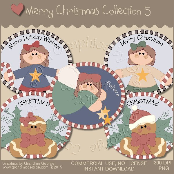 Merry Christmas Graphics Collection Vol. 5