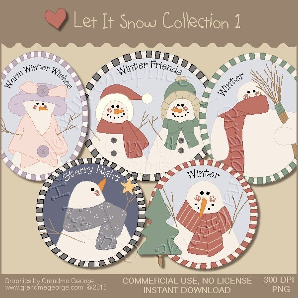 Let It Snow Country Graphics Collection Vol. 1