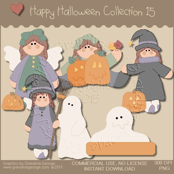 Happy Halloween Graphics Collection Vol. 15