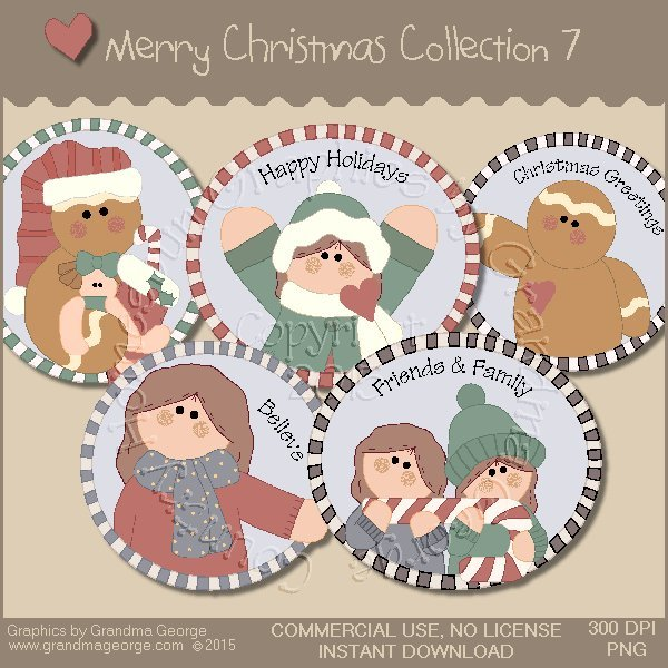 Merry Christmas Graphics Collection Vol. 7