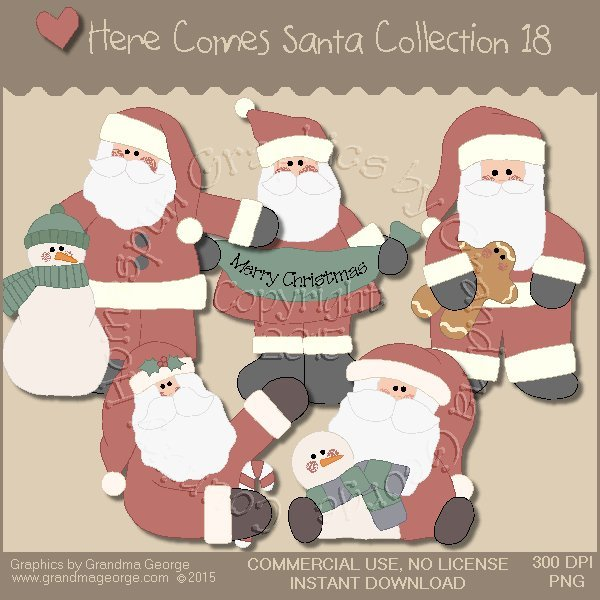 Here Comes Santa Country Graphics Vol. 18