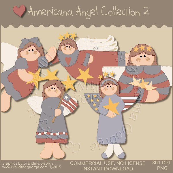 Americana Angel Graphics Collection Vol. 2