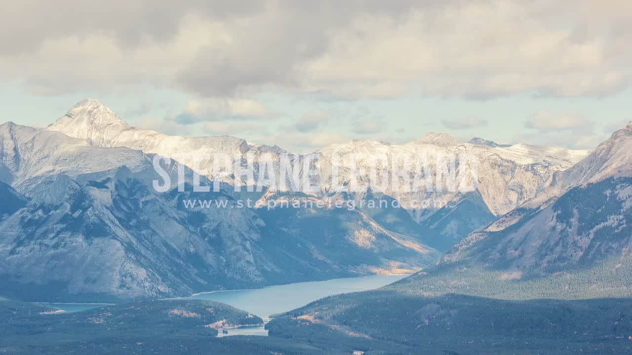 Banff, Canada, Timelapse  - A lake in the Canadian Rockies