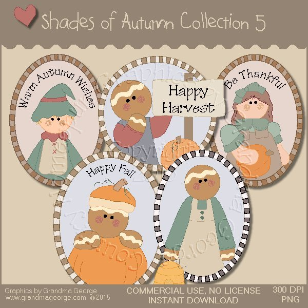 Shades of Autumn Graphics Collection Vol. 5