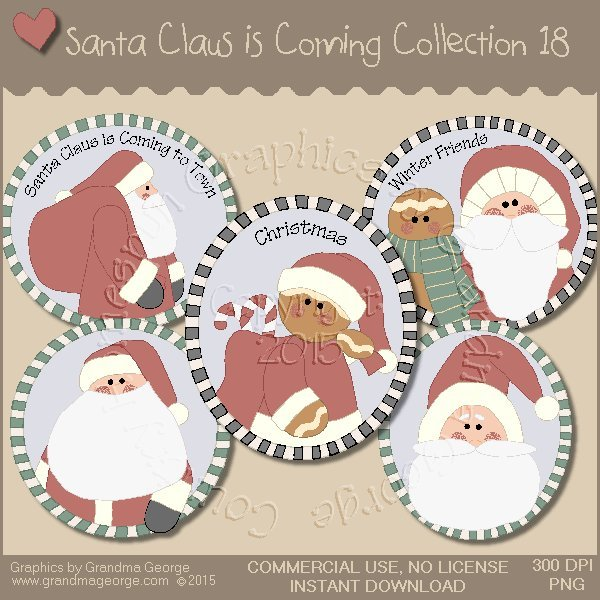 Santa Claus is Coming Country Graphics Vol.18