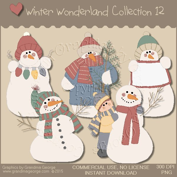 Winter Wonderland Country Graphics Collection Vol. 12