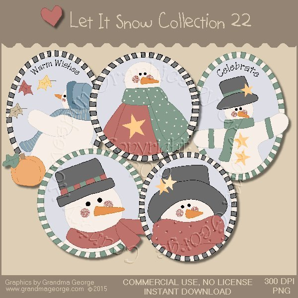 Let It Snow Country Graphics Collection Vol. 22