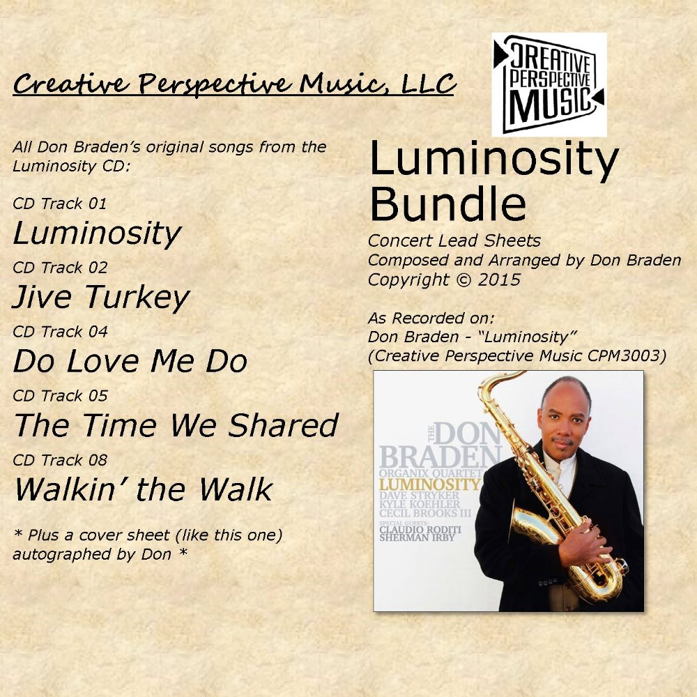 Luminosity - Concert Lead Sheet Bundle