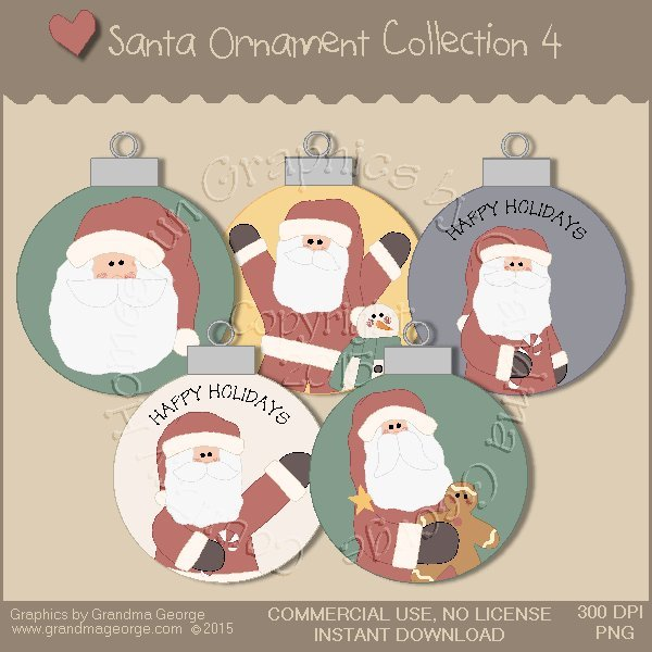 Santa Ornament Collection Vol. 4