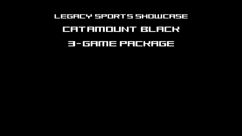 3-Game Catamount Black Package