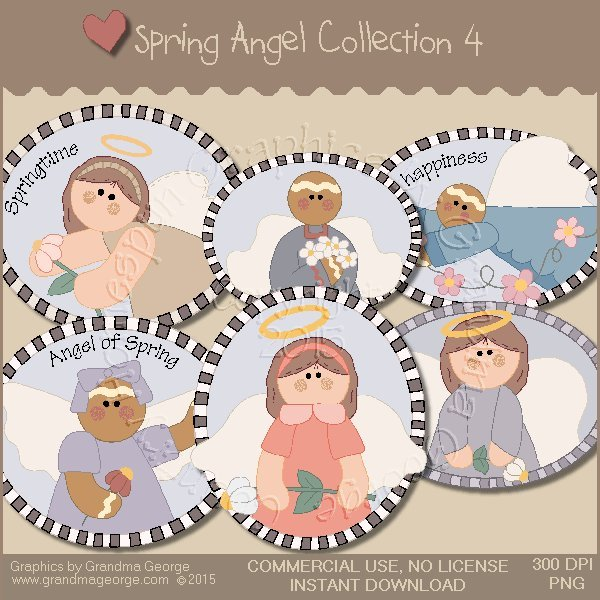 Spring Angel Graphics Collection Vol. 4
