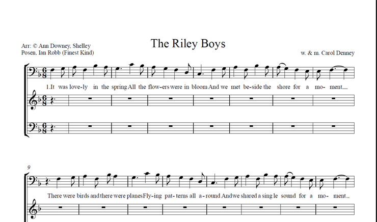The Riley Boys: licensed for 11-20 singers