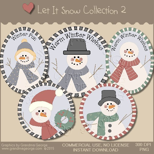 Let It Snow Country Graphics Collection Vol. 2