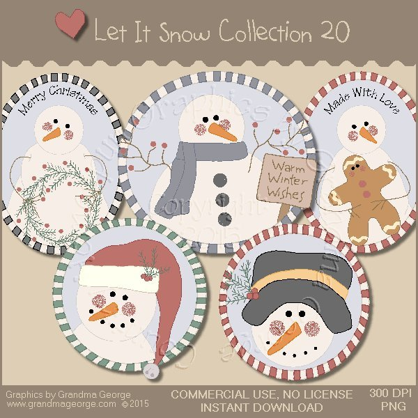Let It Snow Country Graphics Collection Vol. 20