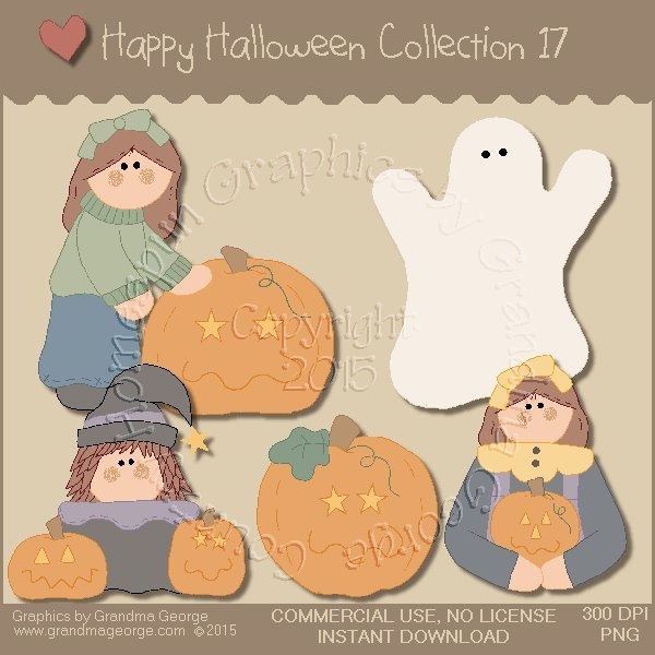 Happy Halloween Graphics Collection Vol. 17