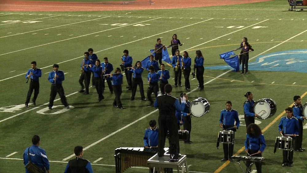 Harrison marching band performance