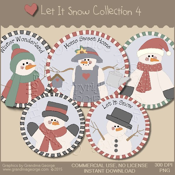 Let It Snow Country Graphics Collection Vol. 4