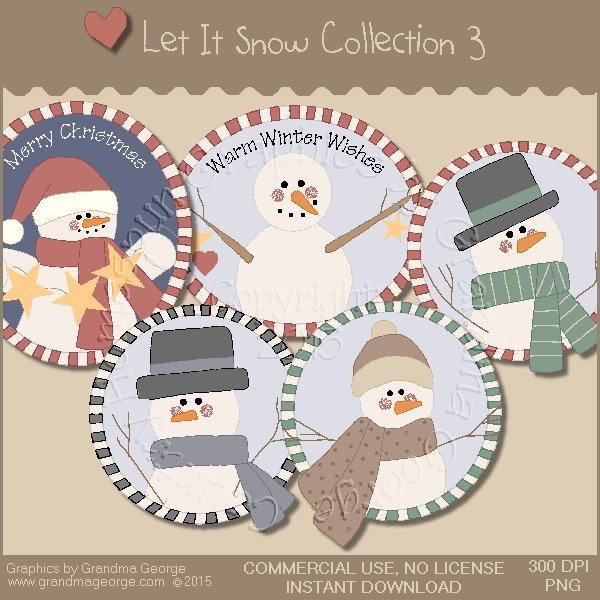 Let It Snow Country Graphics Collection Vol. 3