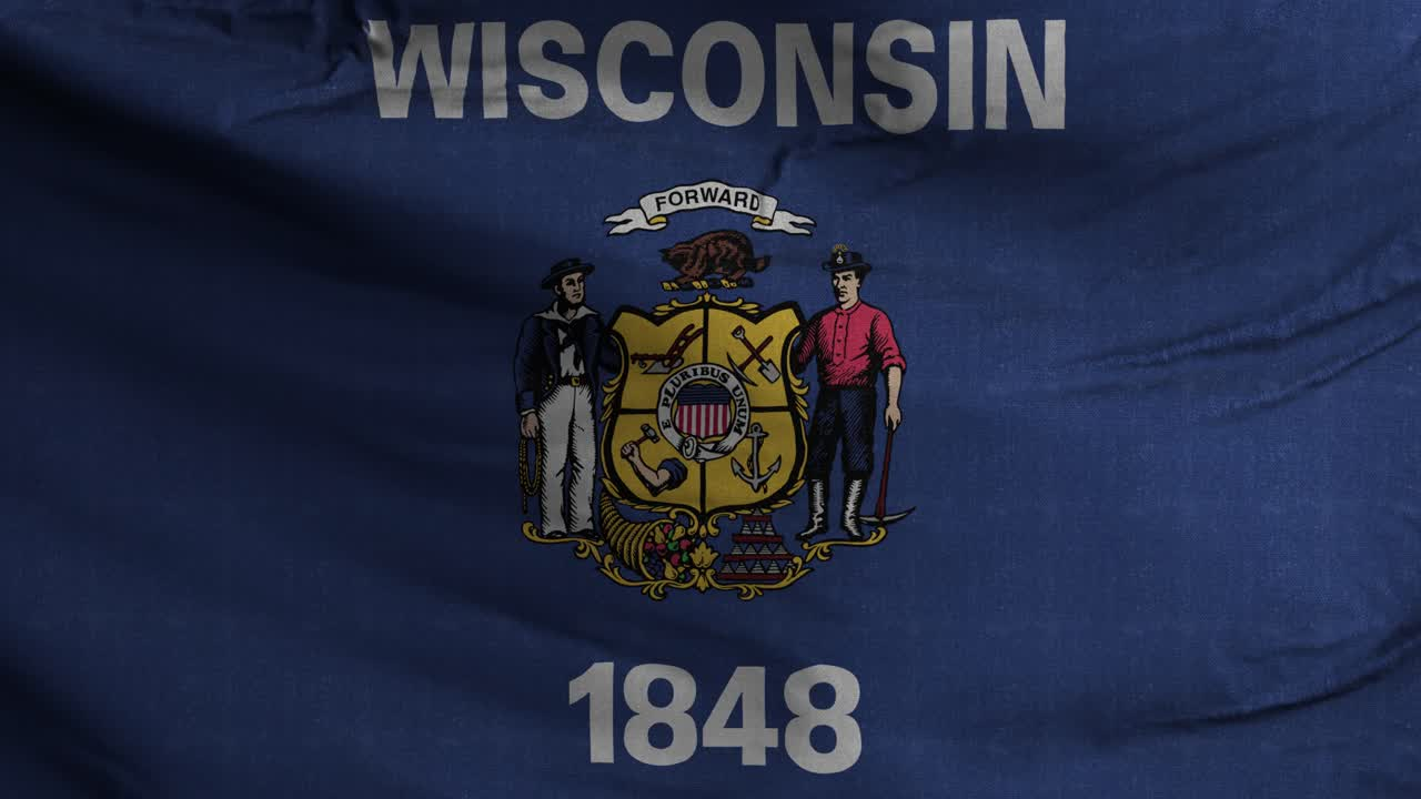 Wisconsin State Flag 4K