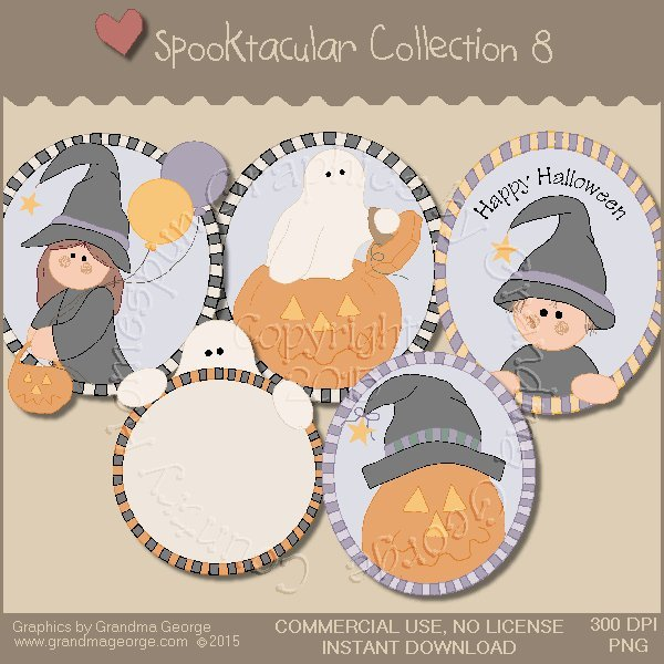 Spooktacular Halloween Graphics Collection Vol. 8