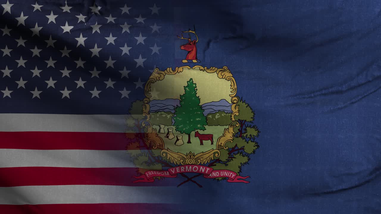 Vermont State USA Mixed Flag 4K