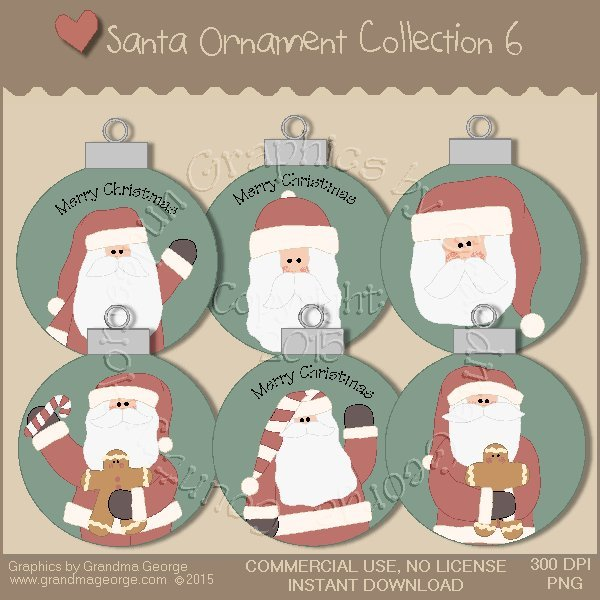 Santa Ornament Collection Vol. 6