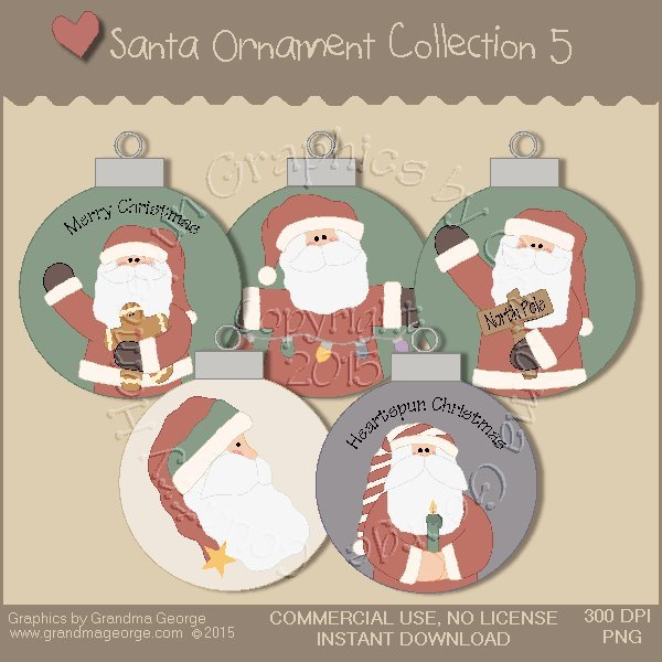 Santa Ornament Collection Vol. 5