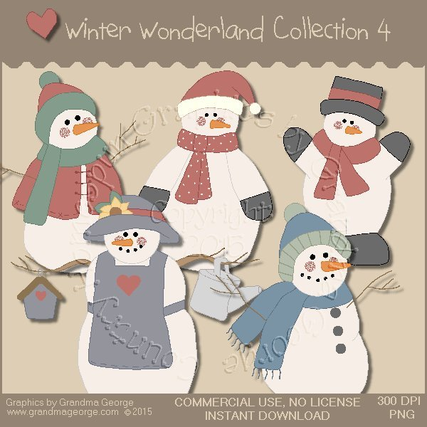 Winter Wonderland Country Graphics Collection Vol. 4