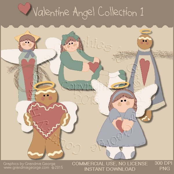 Valentine Angel Graphics Collection Vol. 1