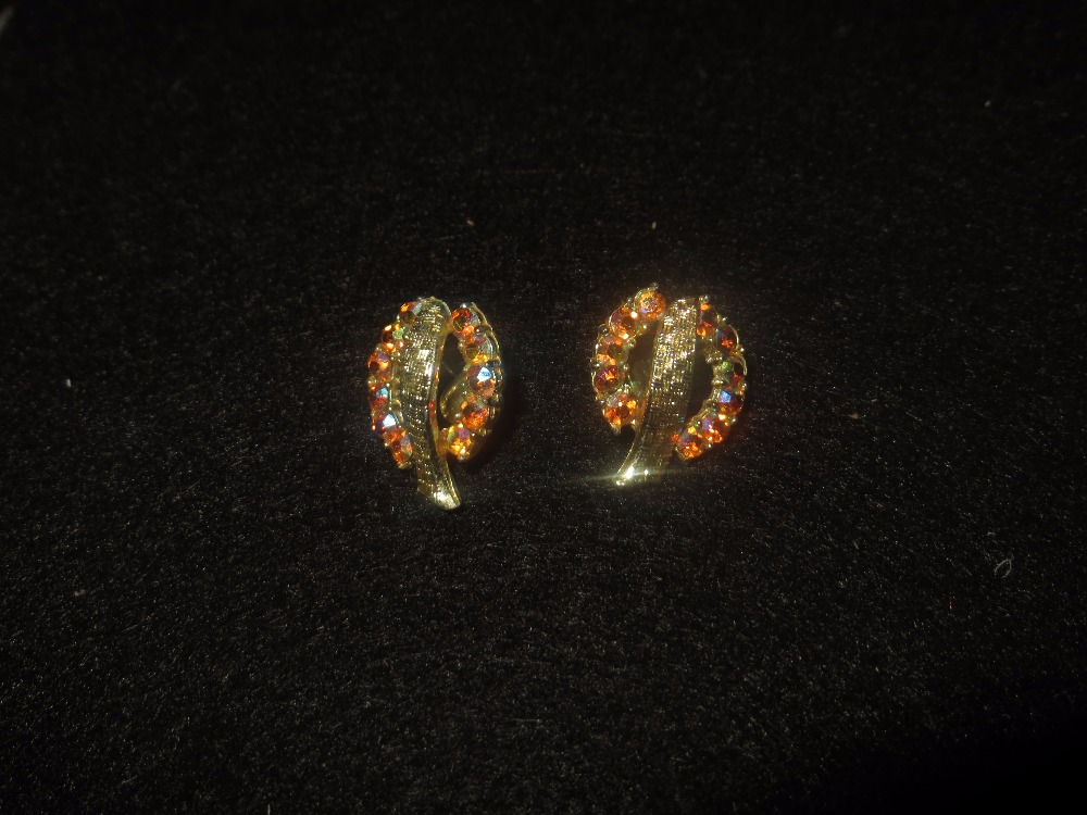 A Night Out Clip On Rhinestone Earrings