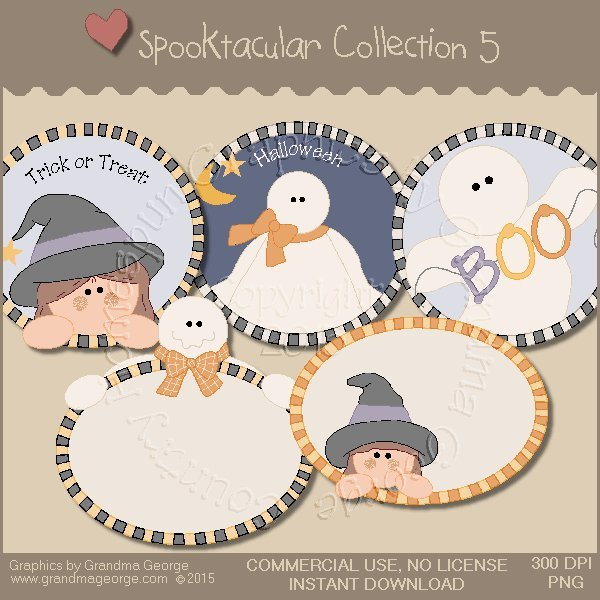 Spooktacular Halloween Graphics Collection Vol. 5