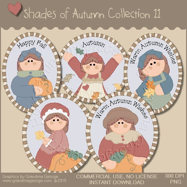 Shades of Autumn Graphics Collection Vol. 11