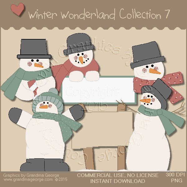 Winter Wonderland Country Graphics Collection Vol. 7