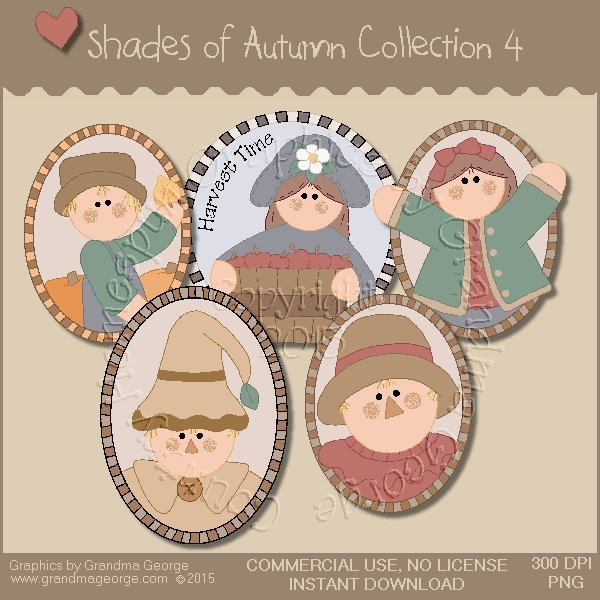 Shades of Autumn Graphics Collection Vol. 4