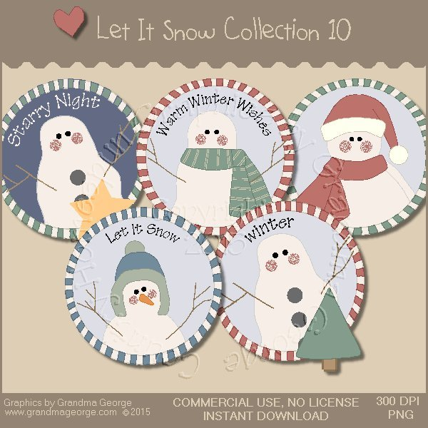 Let It Snow Country Graphics Collection Vol. 10