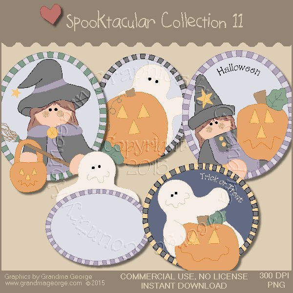 Spooktacular Halloween Graphics Collection Vol. 11