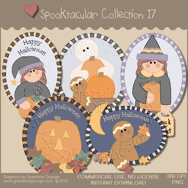 Spooktacular Halloween Graphics Collection Vol. 17