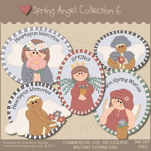 Spring Angel Graphics Collection Vol. 6