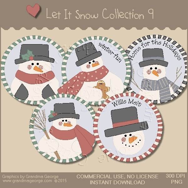 Let It Snow Country Graphics Collection Vol. 9