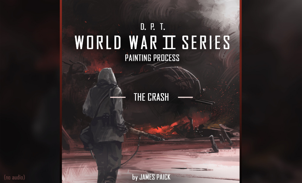 DIGITAL PAINTING TECHNIQUES - WWII SERIES - THE CRASH (no audio)