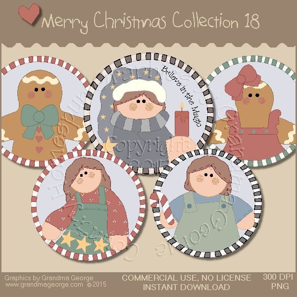 Merry Christmas Graphics Collection Vol. 18