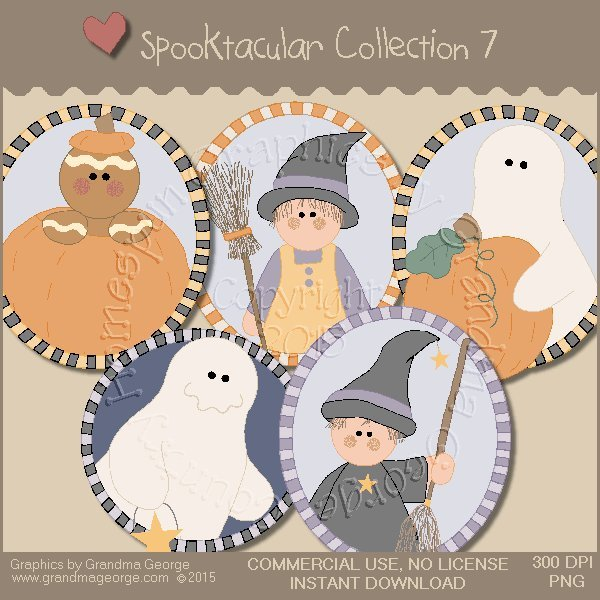 Spooktacular Halloween Graphics Collection Vol. 7
