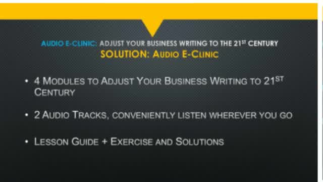 eClinic: How to Adjust Your Business Writing to the 21st Century