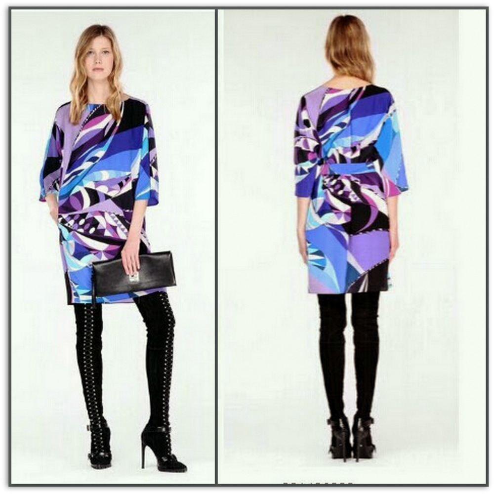 Emilio Pucci Silk Jersey Shift Dress L1994