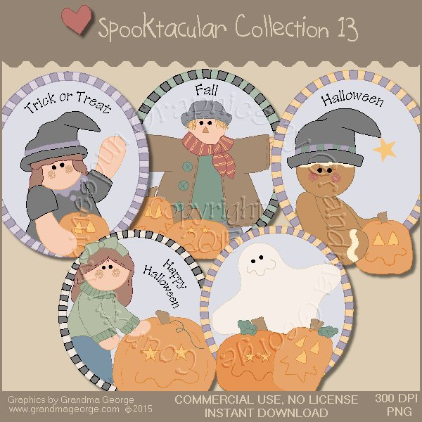 Spooktacular Halloween Graphics Collection Vol. 13