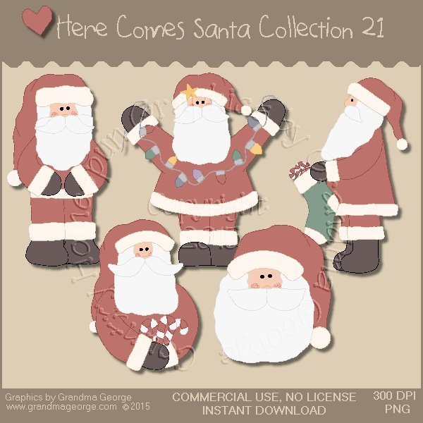 Here Comes Santa Country Graphics Vol. 21