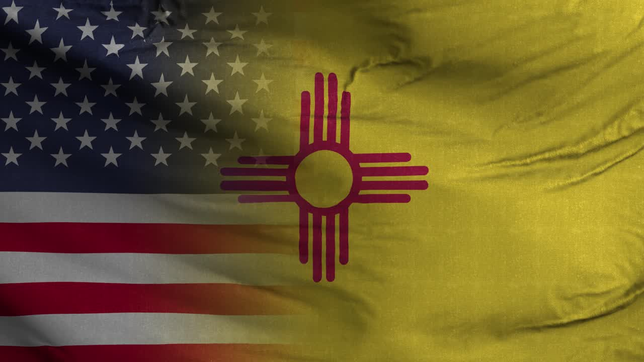 New Mexico State USA Mixed Flag 4K